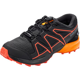 Salomon Speedcross CSWP Shoes Kids black/tangelo/cherry tomato